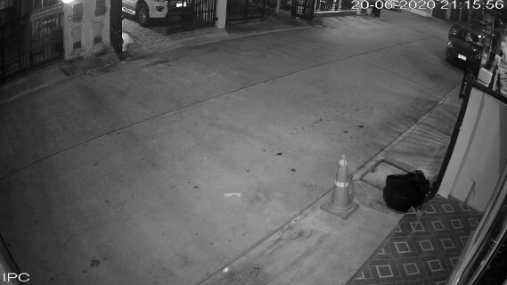 Example of CCTV at night