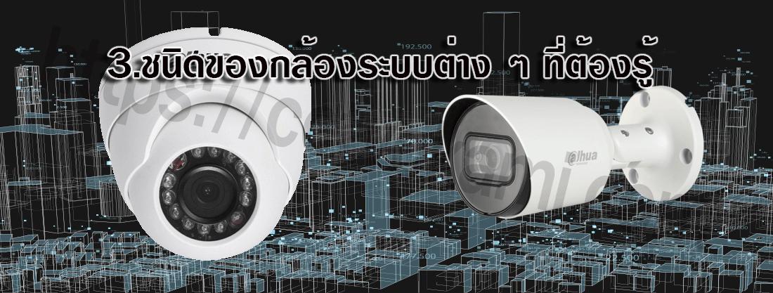 3.ชนิดของกล้องระบบต่าง ๆ ที่ต้องรู้